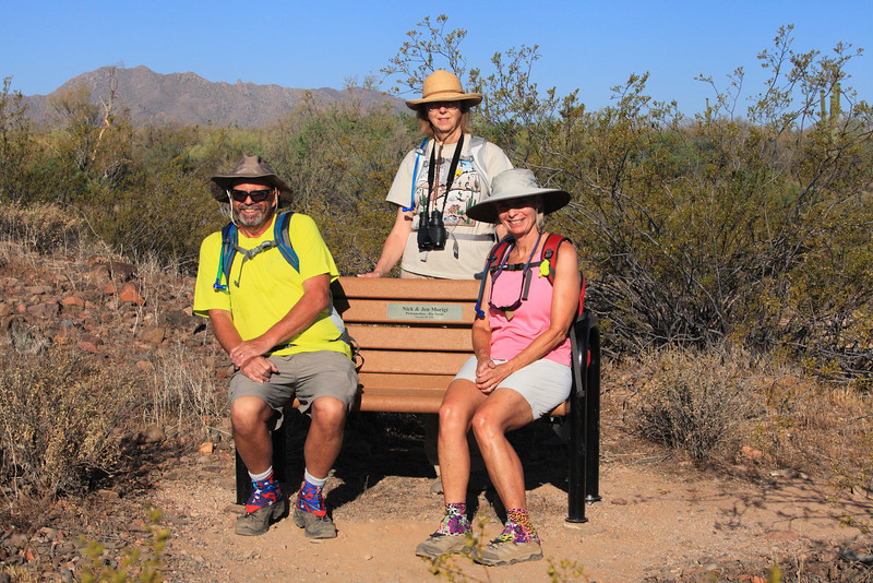 Bob, JoAnne, and Linda -   Friday Fitness Hike - June 6th 2014 -  North Trail and Verde trail - McDowell Mountain Regional Park